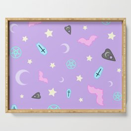 Pastel Goth Occult Pattern Serving Tray