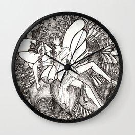 Butterfly king Wall Clock