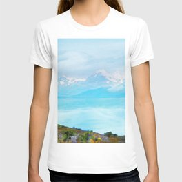 Lake Tekapo & Southern Alps in Watercolor T-shirt