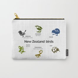New Zealand Birds Carry-All Pouch