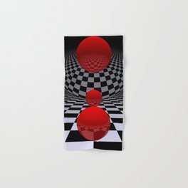 red-white-black -2- Hand & Bath Towel
