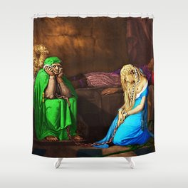 Belisane & Parcival under the Enchantment of Urma Portrait by Jeanpaul Ferro Shower Curtain