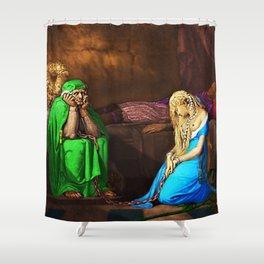 Belisane & Parcival under the Enchantment of Urma Portrait by Jeanpaul Ferro Shower Curtain