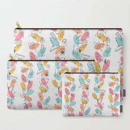 Retro Floral #05 Carry-All Pouch