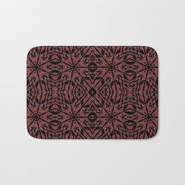 GOTHIC Red Unusual Rose Pattern Bath Mat