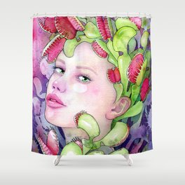 Under the Gaze of Venus Shower Curtain