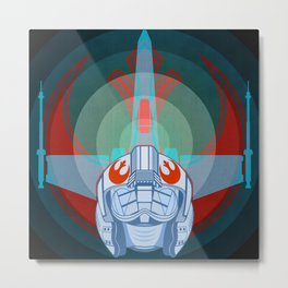 Red leader standing by Metal Print