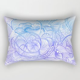 The Ebb and Flow - Purp & Blue Rectangular Pillow