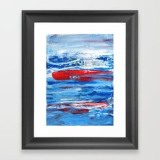 Hunting the Red Whale Framed Art Print