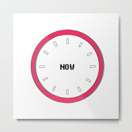 we have no real time except now, yoga silent clock Metal Print