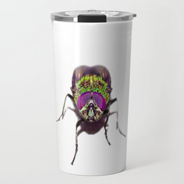 Purple Green Pschedelic Fly Travel Mug