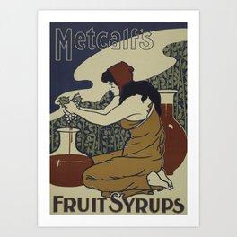 Fruit Syrup poster Art Print