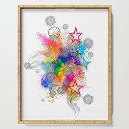 Color blobs by Nico Bielow Serving Tray