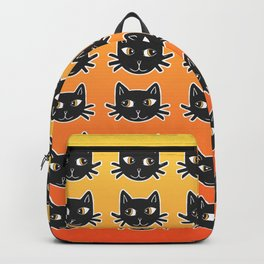 Black Cats Halloween Pattern Backpack