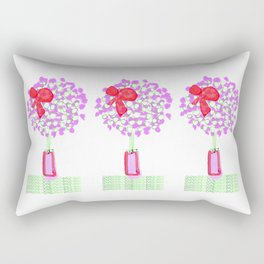 Flower Tree with Bow Rectangular Pillow