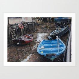 Upstream And Downstream Art Print