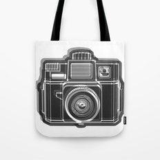 I Still Shoot Film Holga Logo - Black and White Tote Bag