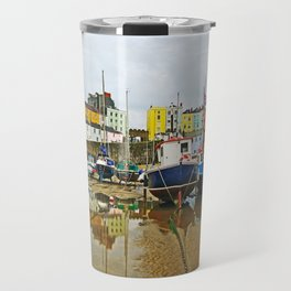 Tenby Harbour Reflection.Wales. Travel Mug