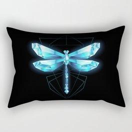 Ice Dragonfly Rectangular Pillow