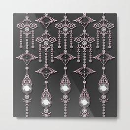 CASTELLINA JEWELS: ROMANTIC FADED PINK Metal Print