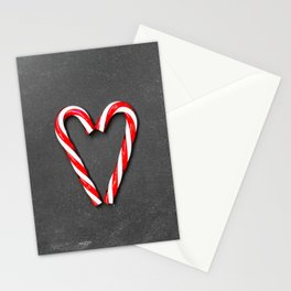 Love Peppermint Heart (Color) Stationery Cards