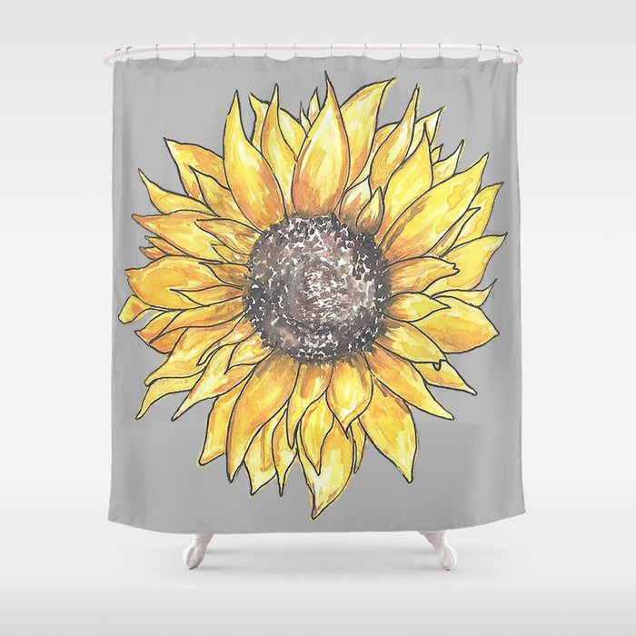 Sunflower Shower Curtain By Kcreations