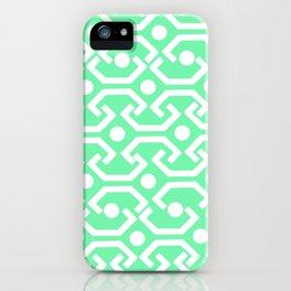 Ethnic Pattern (Mint) iPhone Case