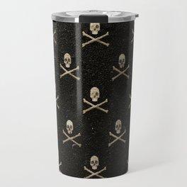 Skulls & Crossbones - Black Travel Mug