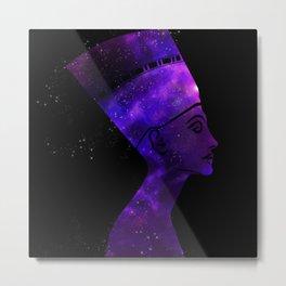 Queen Nefertiti Nebula Dark Stardust Metal Print