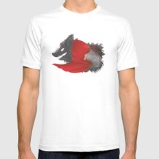 Red Riding Hood Mens Fitted Tee MEDIUM White