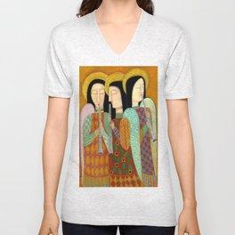 three angels Unisex V-Neck