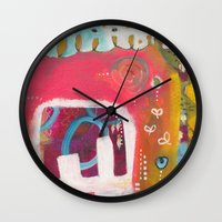 india Wall Clocks featuring India by Joana Carvalho