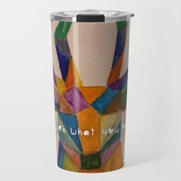 geometric deer using watercolor Travel Mug