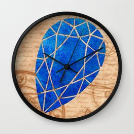 Magical Sapphire - Illustration Gems Wall Clock