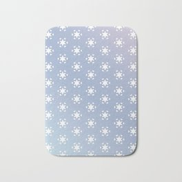 white star and heart on blue background Bath Mat