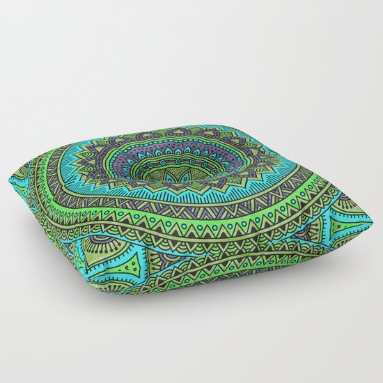 Hippie Floor Pillows : Hippie mandala 44 Floor Pillow by Mantra Mandala Society6