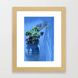 Blue Mood Vase Framed Art Print