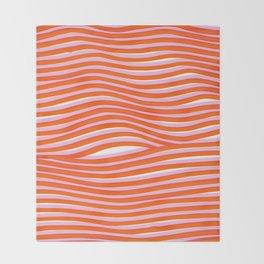 electric zebra stripes Throw Blanket