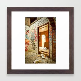 Scrawled Framed Art Print