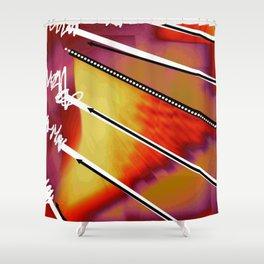 Zig Zag blanc Shower Curtain