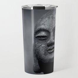 Wisdom - Buddha Black & White Travel Mug