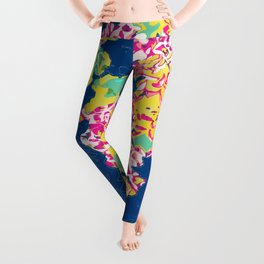 The soul becomes dyed with the color of its thoughts #floral #graphicdesign Leggings