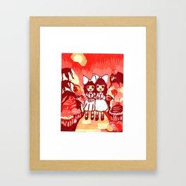 Lollipop Girls. Framed Art Print