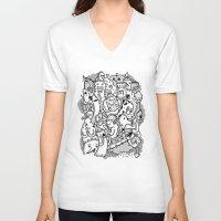 family V-neck T-shirts featuring family by ybalasiano