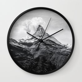 Mountain Black and white Wall Clock