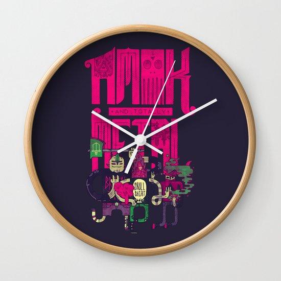 Amok and Totally Metal Wall Clock
