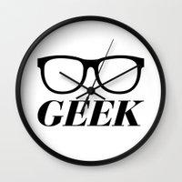 geek Wall Clocks featuring Geek by Faction 15