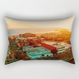 Santa Monica beach evening light Rectangular Pillow