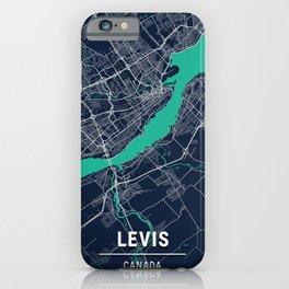 Levis Blue Dark Color City Map iPhone Case