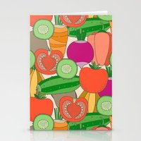 vegetables Stationery Cards featuring Vegetables by Valendji